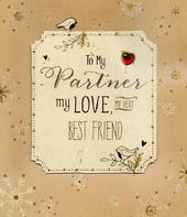 To My Partner Christmas Greeting Card