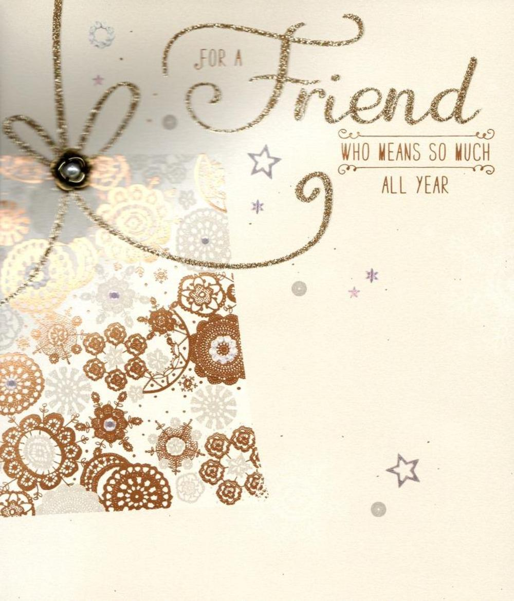 Special friend christmas greeting card cards love kates special friend christmas greeting card m4hsunfo