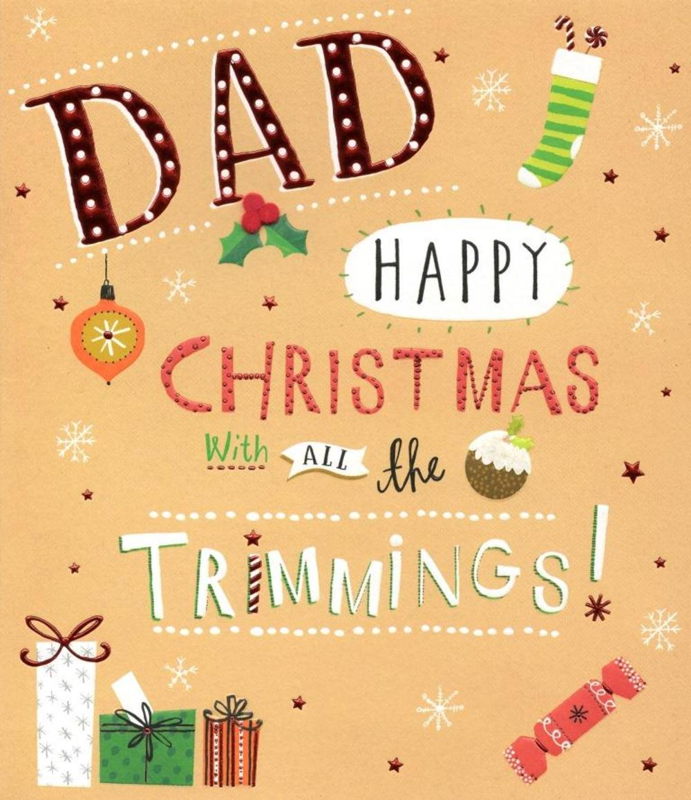 Dad Christmas Greeting Card
