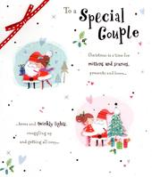 Special Couple Christmas Greeting Card