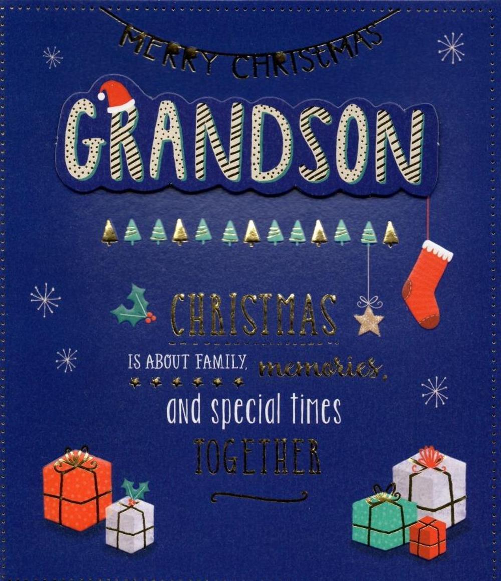 Grandson Christmas Greeting Card