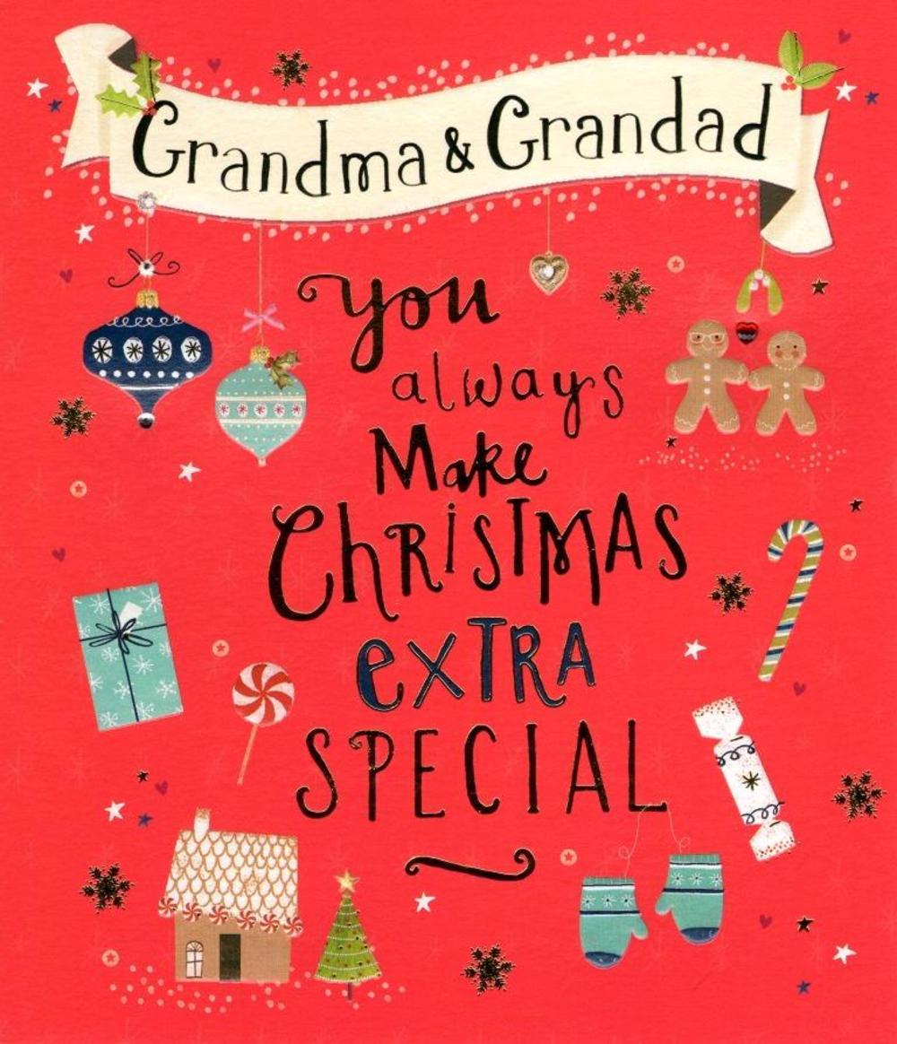 Grandma Grandad Christmas Greeting Card Cards Love Kates