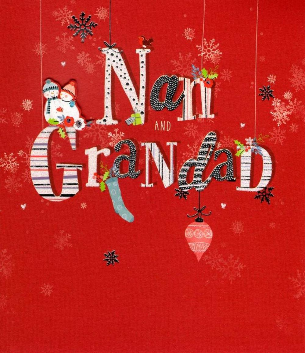 Nan & Grandad Christmas Greeting Card
