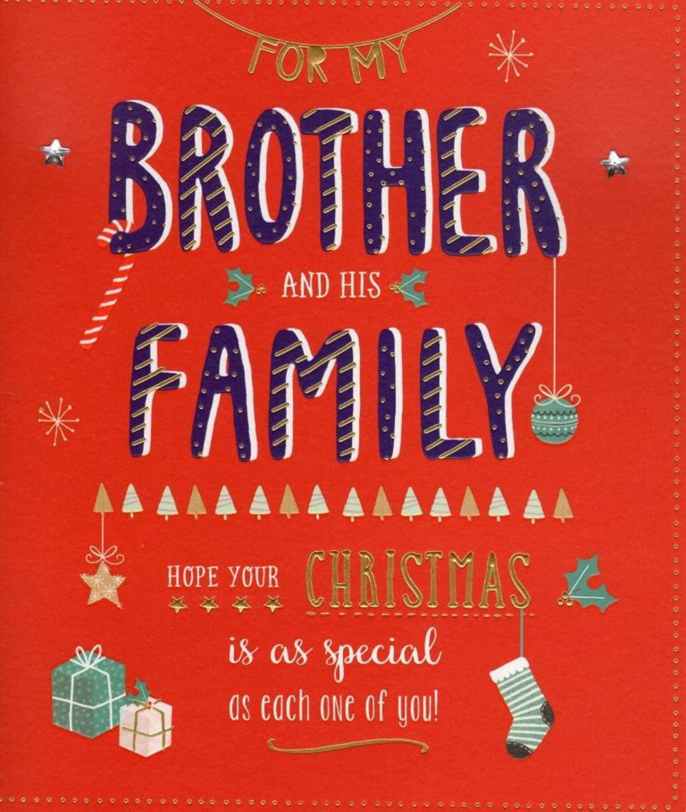 Brother family christmas greeting card cards love kates brother family christmas greeting card kristyandbryce Image collections