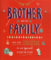 Brother & Family Christmas Greeting Card