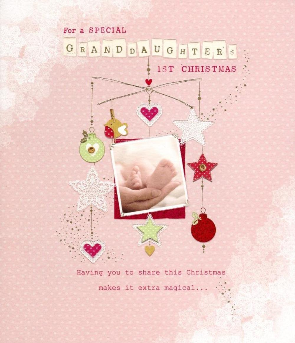 Granddaughter's 1st Christmas Greeting Card