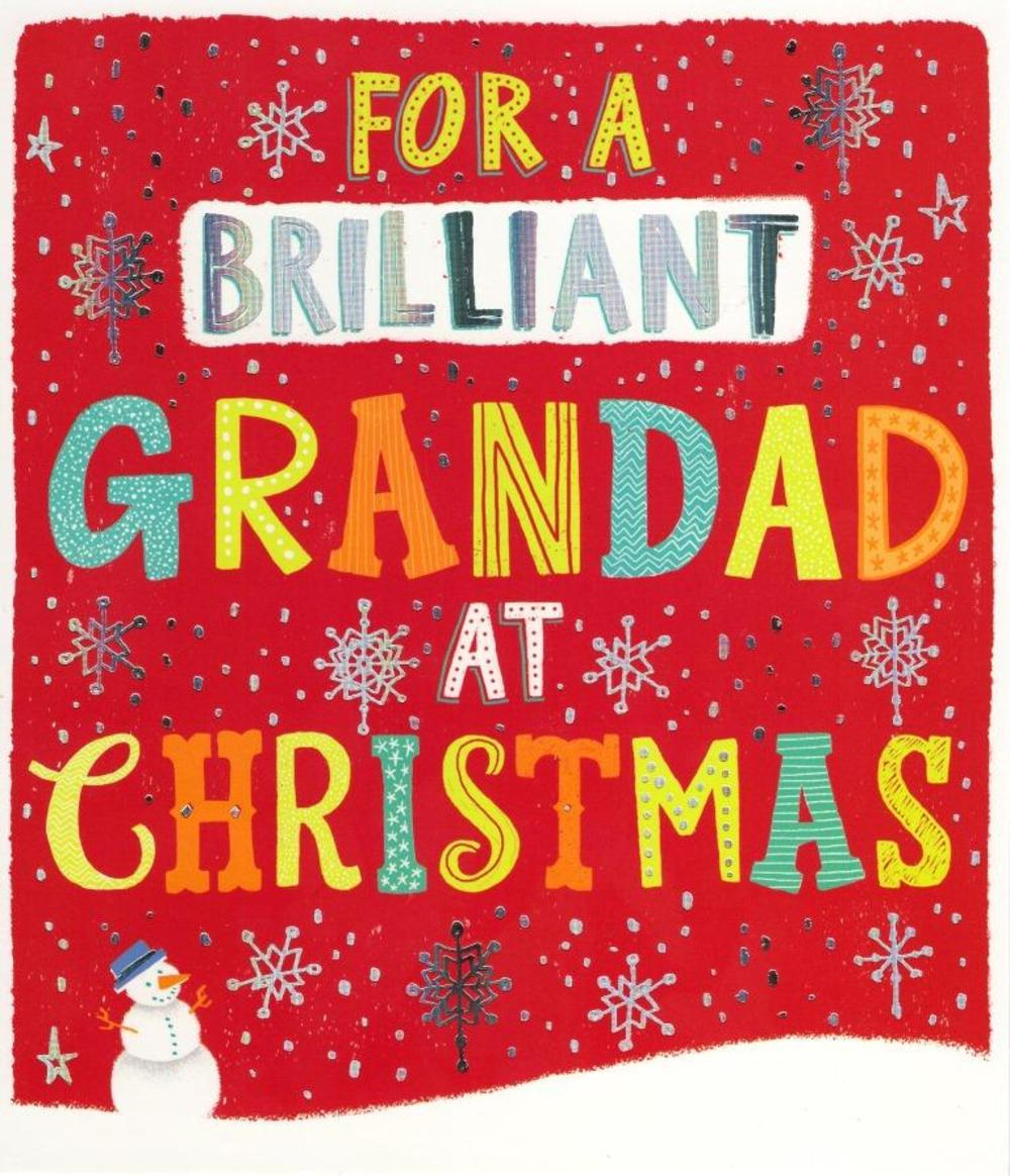 Brilliant Grandad Christmas Greeting Card