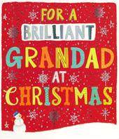 Brilliant Grandad Christmas Greeting Card