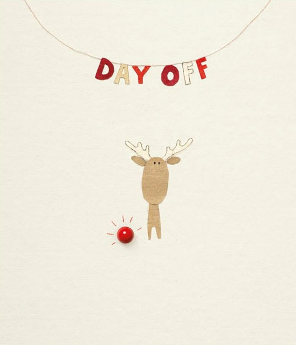 Funny Day Off Rooodolf Christmas Greeting Card