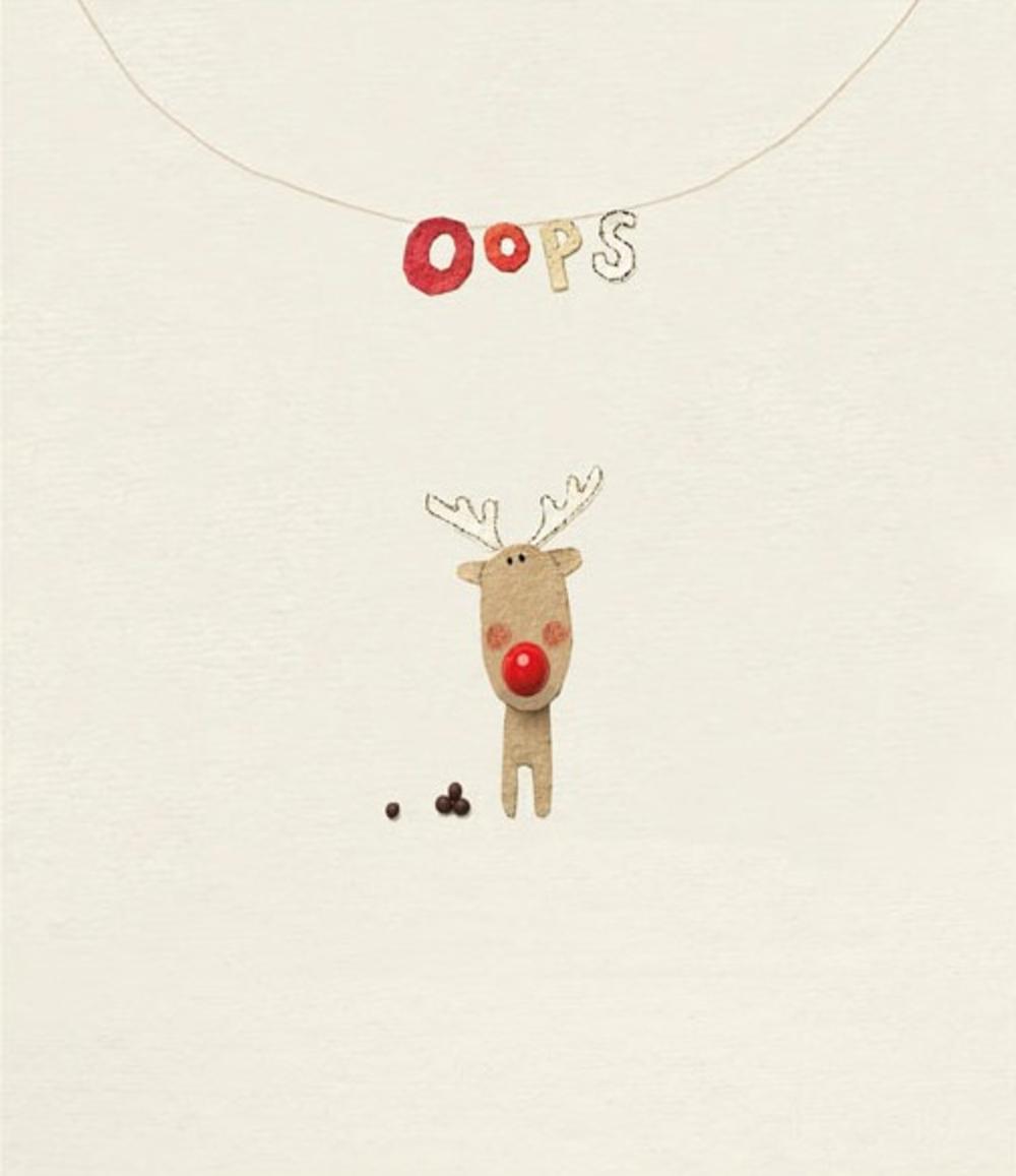 Funny Oops Rooodolf Christmas Greeting Card
