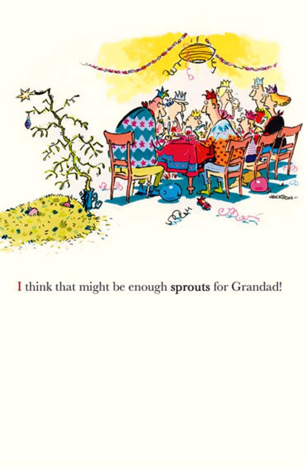 Funny Plonkers Enough Sprouts Christmas Greeting Card