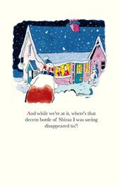 Funny Plonkers Shiraz Disappeared Christmas Greeting Card