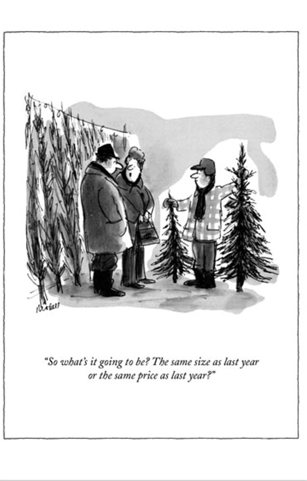 Funny The New Yorker Xmas Tree Christmas Card