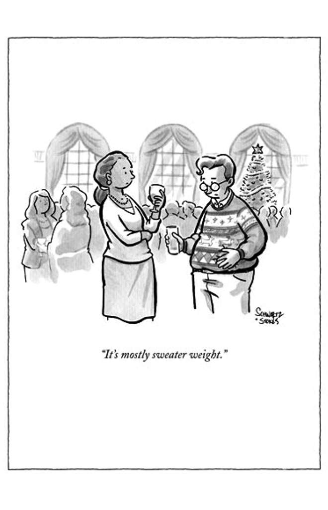 Funny The New Yorker Sweater Weight Christmas Card Humour Xmas Cards ...