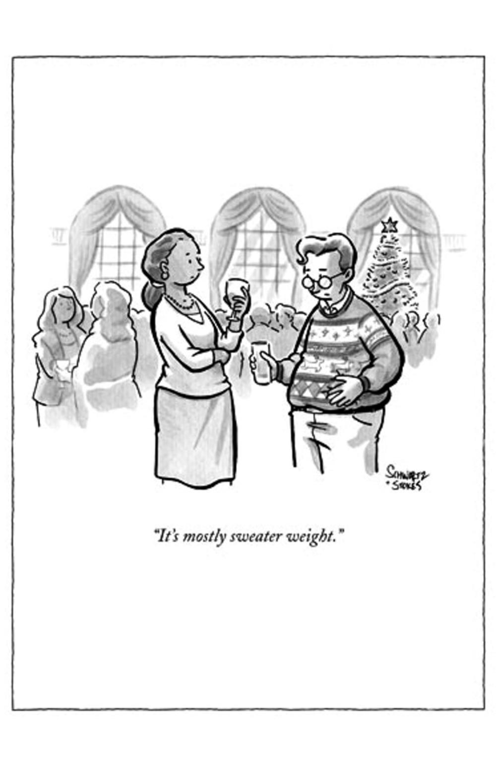 Funny The New Yorker Sweater Weight Christmas Card