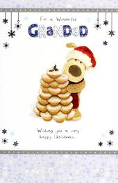 Boofle Wonderful Grandad Christmas Greeting Card