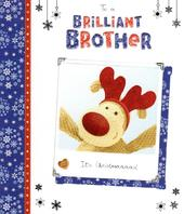 Boofle Brilliant Brother Christmas Greeting Card