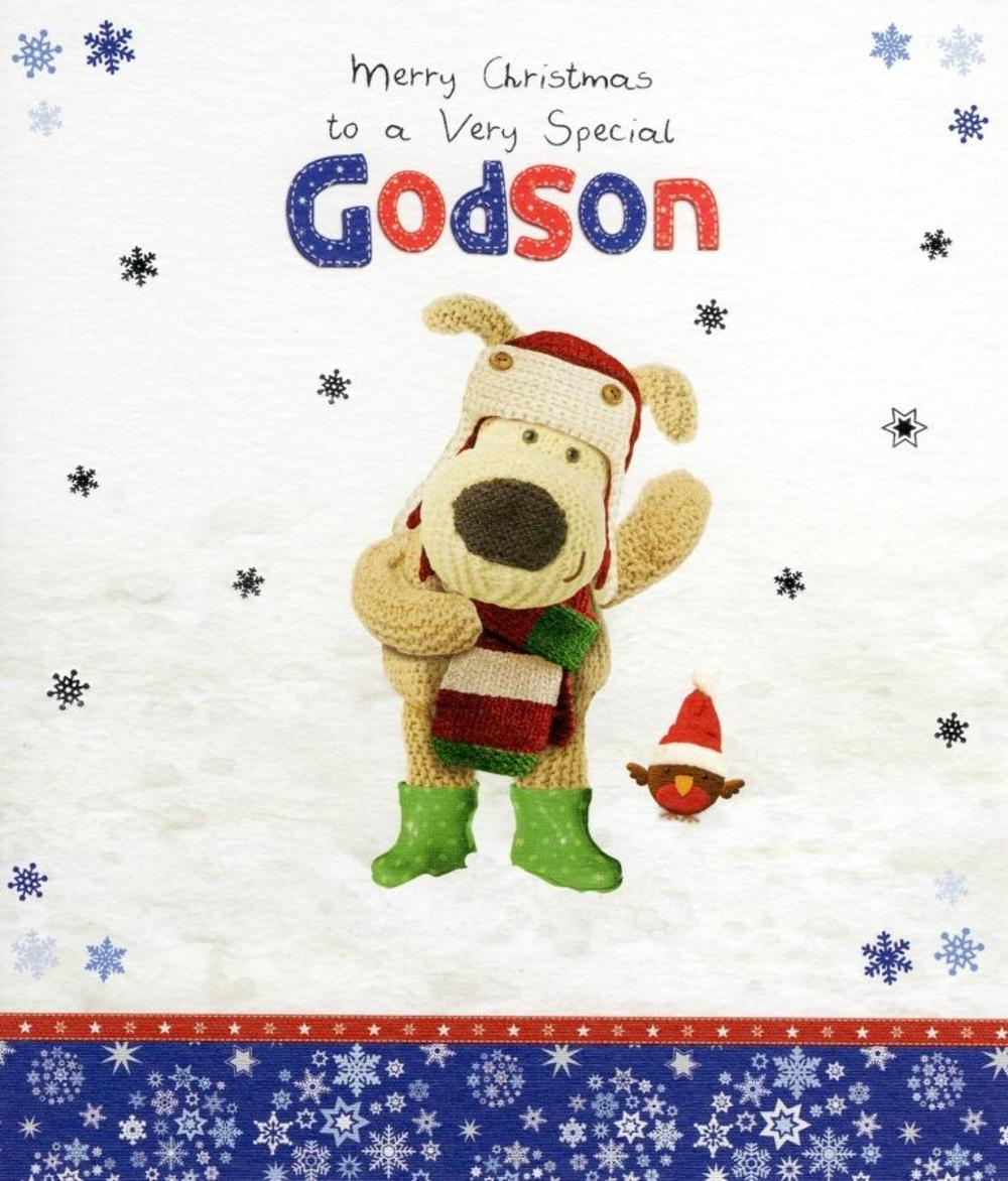 Boofle Special Godson Christmas Greeting Card