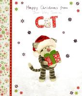 Boofle Happy Christmas From The Cat Greeting Card