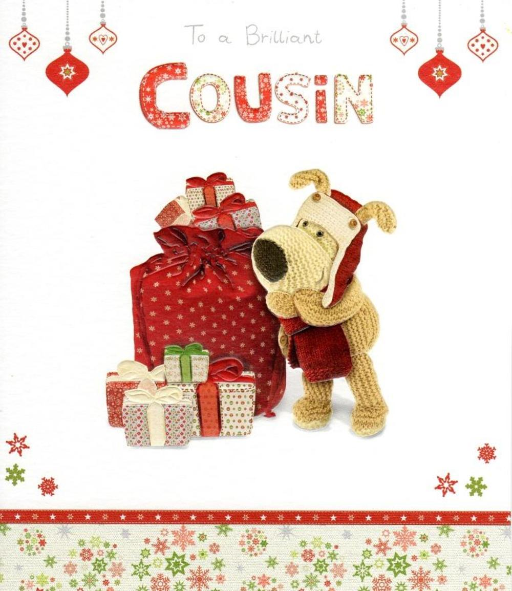 Boofle Brilliant Cousin Christmas Greeting Card
