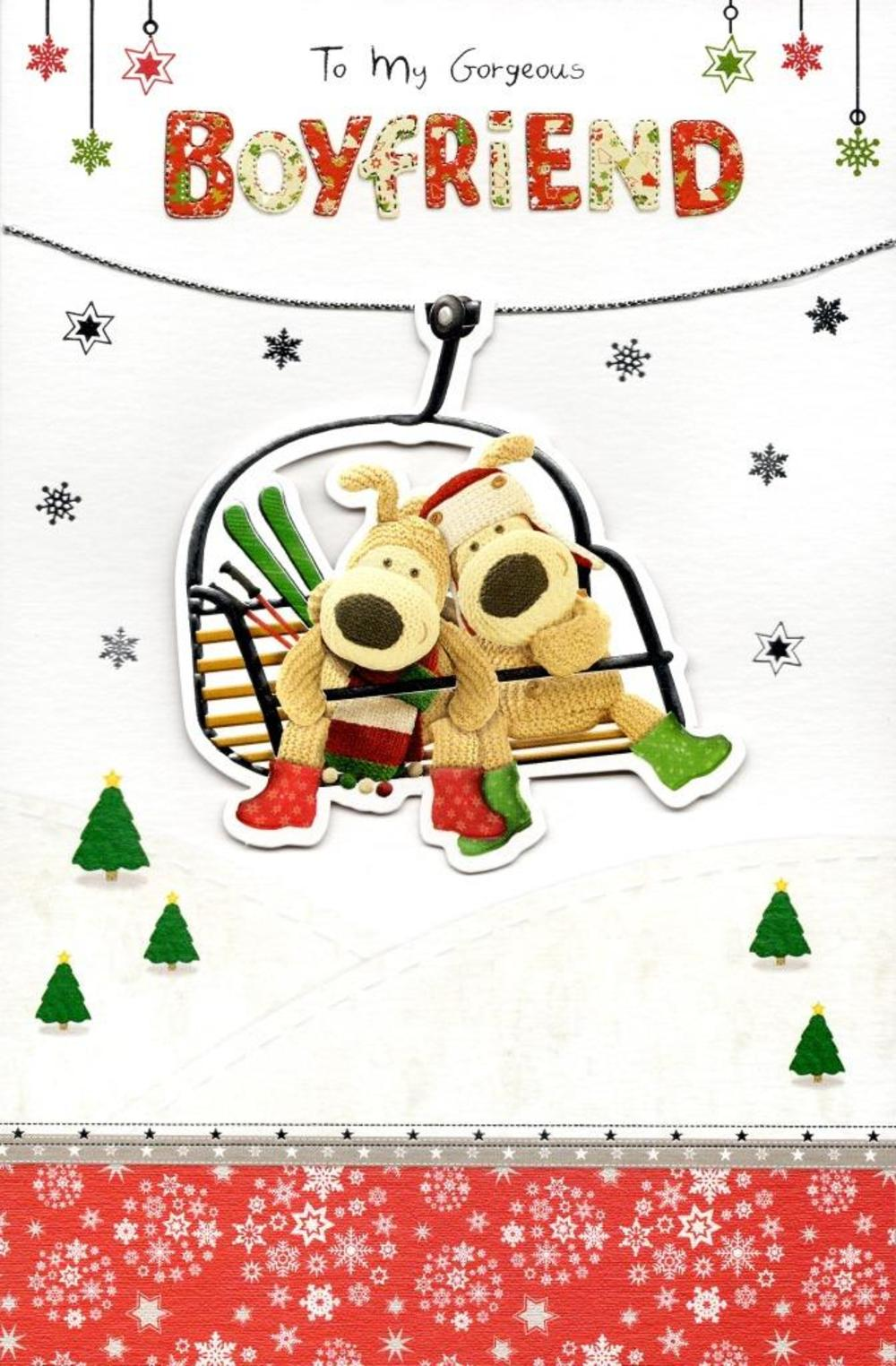 boofle gorgeous boyfriend christmas greeting card - Boyfriend Christmas Card