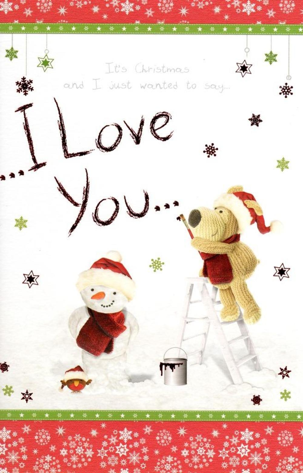 Boofle I Love You Christmas Greeting Card
