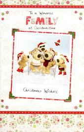Boofle To A Wonderful Family Christmas Greeting Card