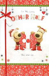 Boofle To My Other Half Christmas Greeting Card