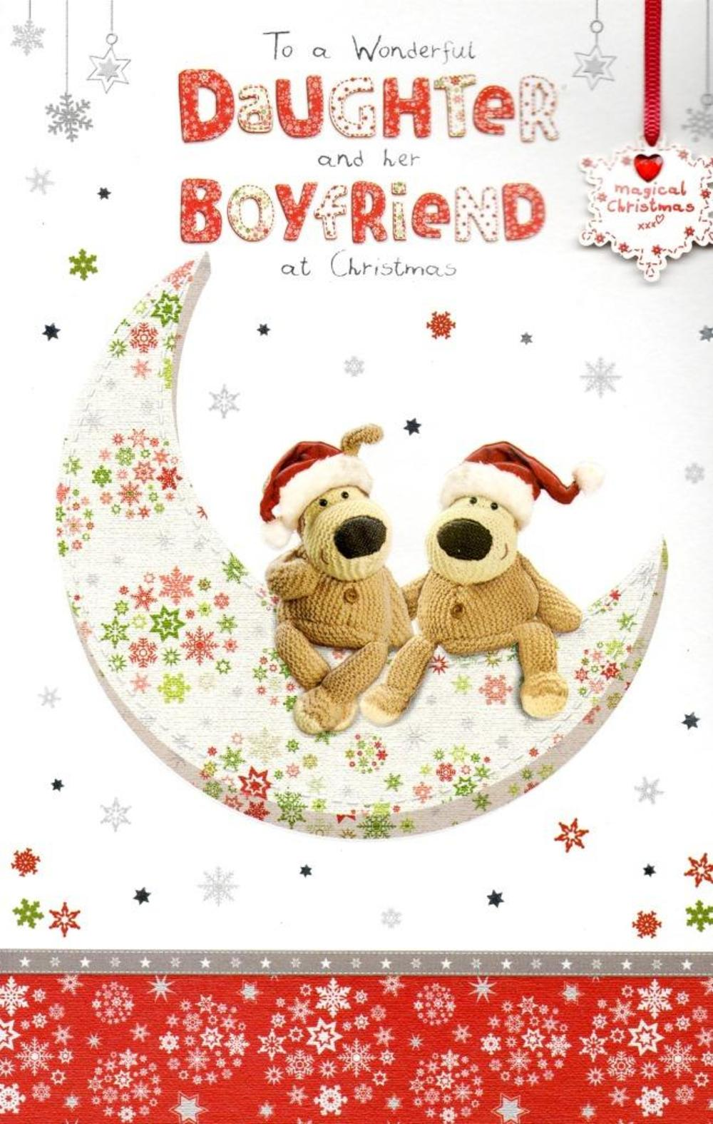 Boofle Daughter & Her Boyfriend Christmas Greeting Card