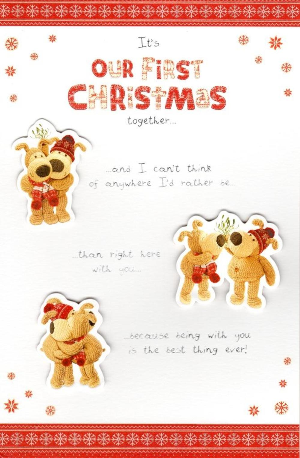 Boofle Our First Christmas Together Greeting Card