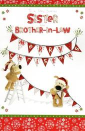 Boofle Sister & Brother-In-Law Christmas Greeting Card