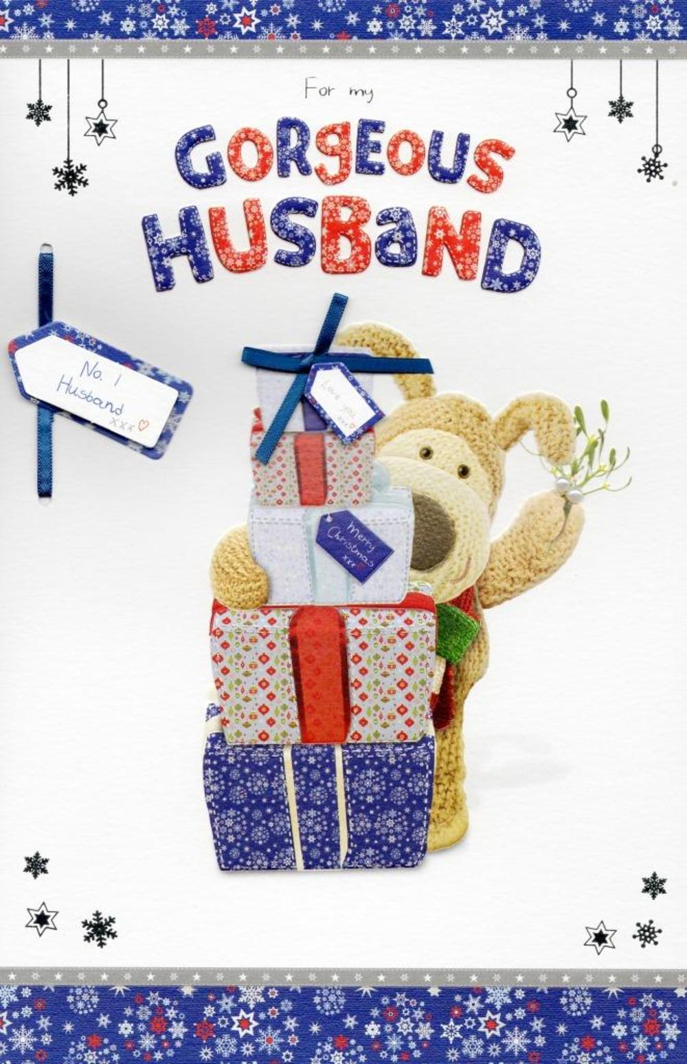 Boofle Gorgeous Husband Christmas Greeting Card