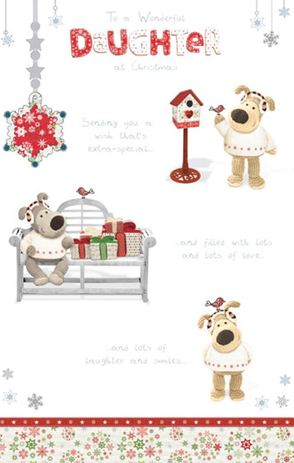 Boofle Wonderful Daughter Christmas Greeting Card