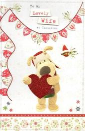 Boofle Lovely Wife Christmas Greeting Card