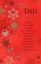 Dad Traditional Christmas Greeting Card