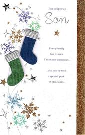 Special Son Traditional Christmas Greeting Card