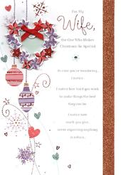 Wife Traditional Christmas Greeting Card