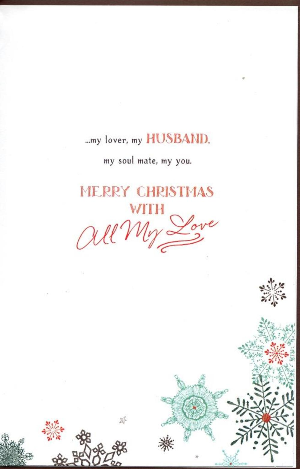 husband traditional christmas greeting card  cards  love