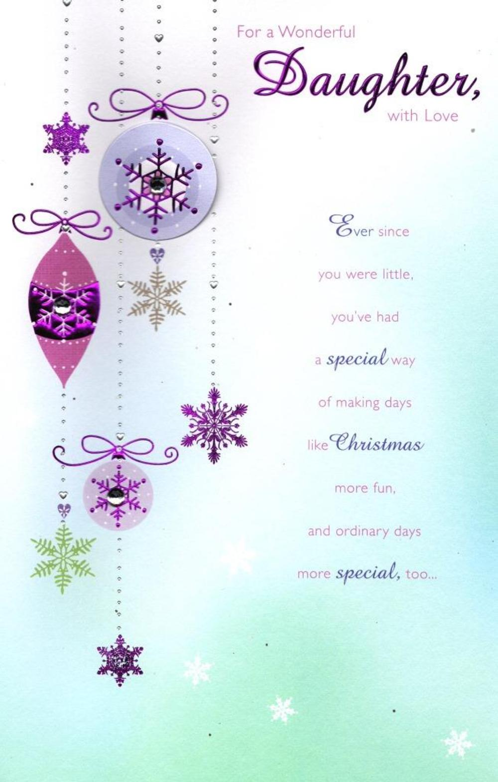 Daughter Traditional Christmas Greeting Card