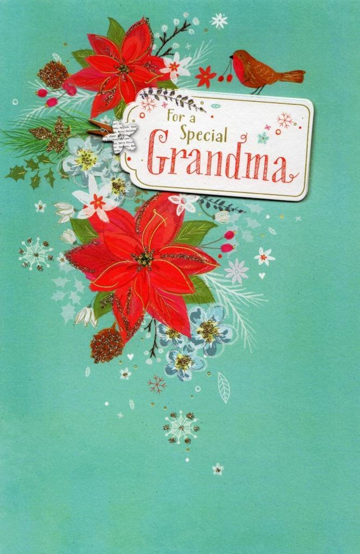 grandma traditional christmas greeting card  cards  love