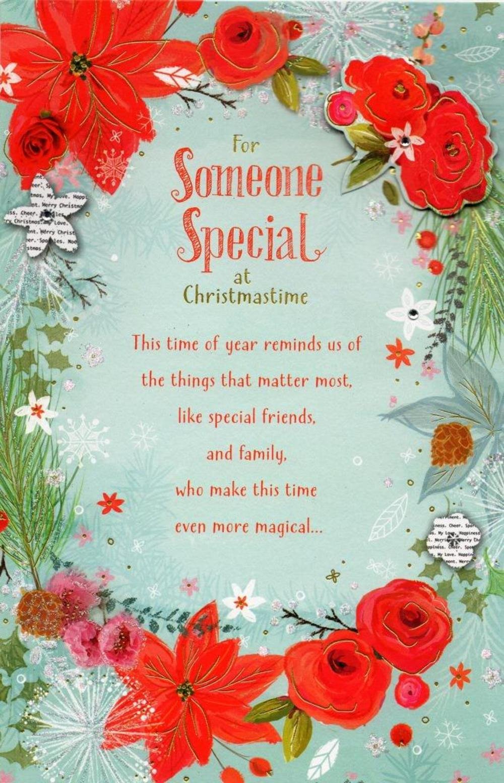 Someone Special Traditional Christmas Greeting Card Cards Love Kates