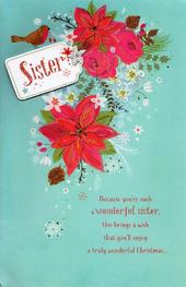 Sister Traditional Christmas Greeting Card