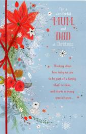 Mum & Dad Traditional Christmas Greeting Card