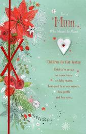 Lovely Mum Traditional Christmas Greeting Card