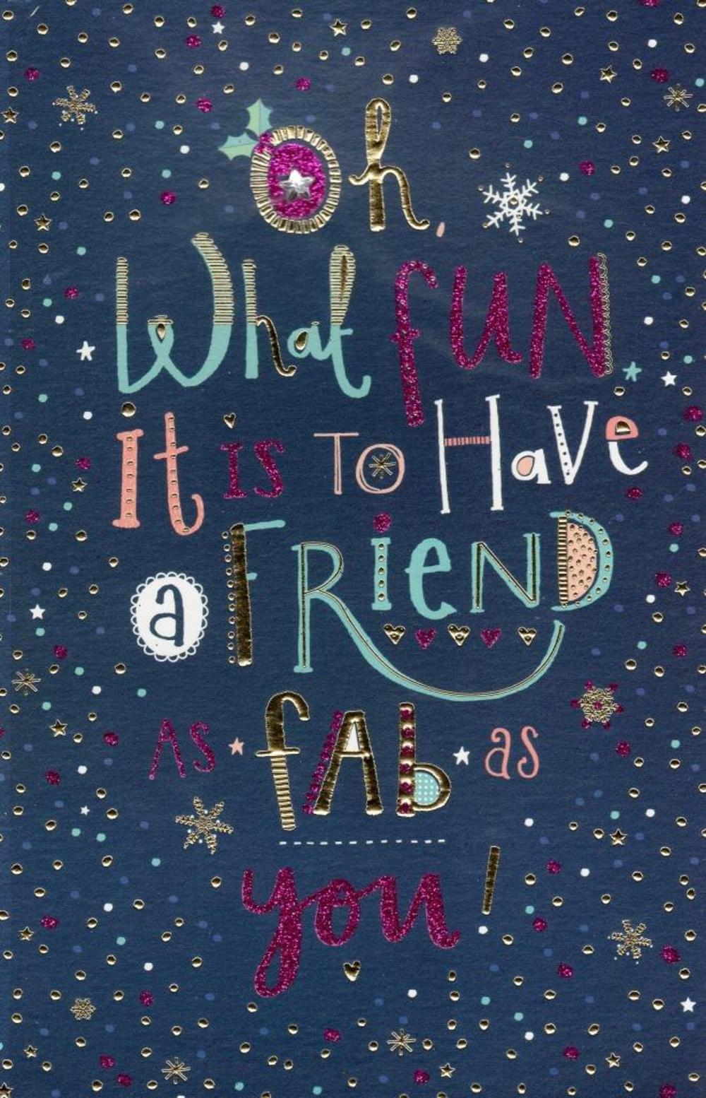 Fab Friend Christmas Greeting Card