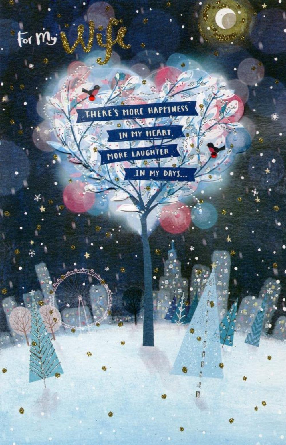 for my wife beautiful christmas greeting card  cards