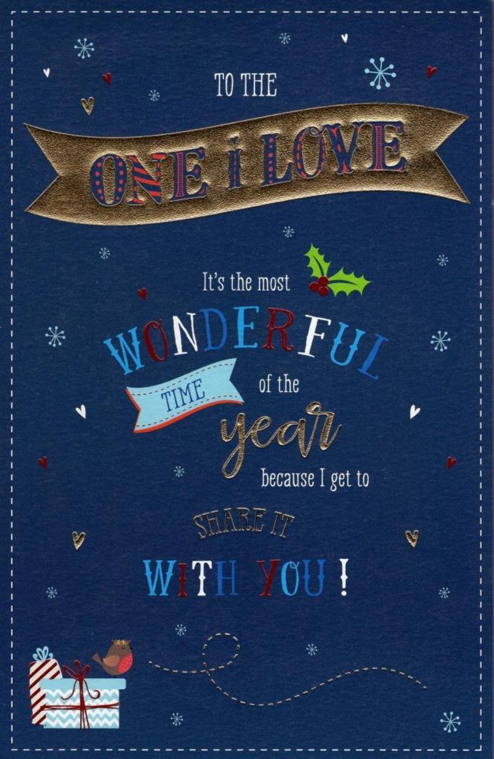 One I Love Traditional Christmas Greeting Card