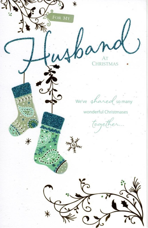 Husband Traditional Christmas Greeting Card