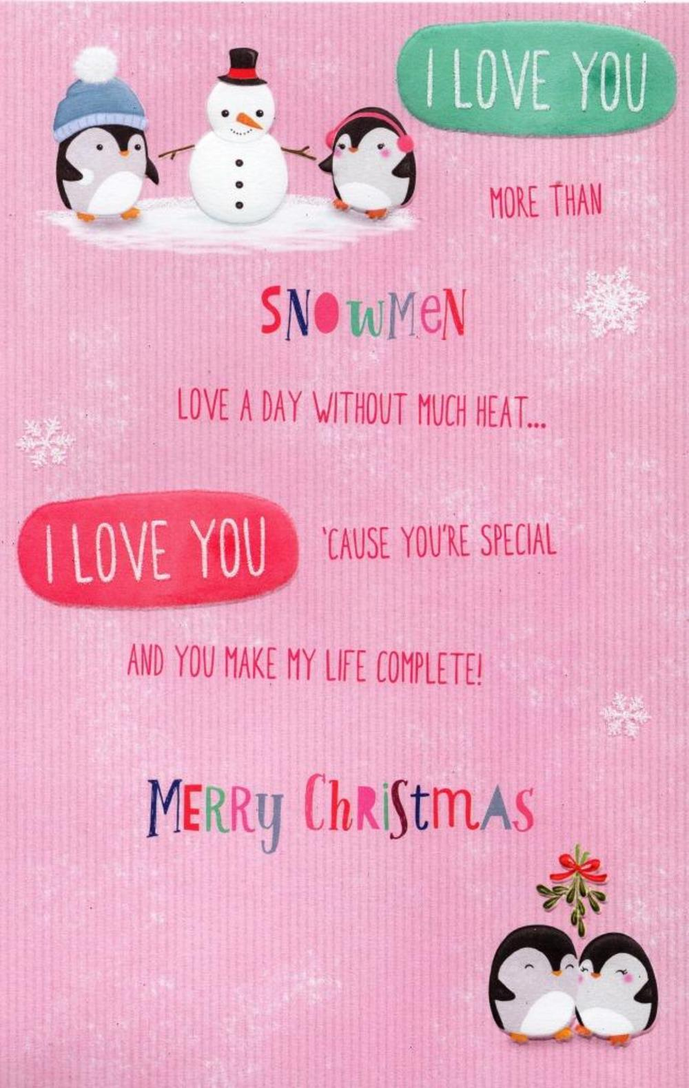 Wife i love you more christmas greeting card cards love kates thumbnail 3 kristyandbryce Choice Image