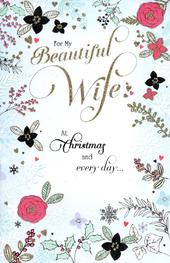 Beautiful Wife Traditional Christmas Greeting Card
